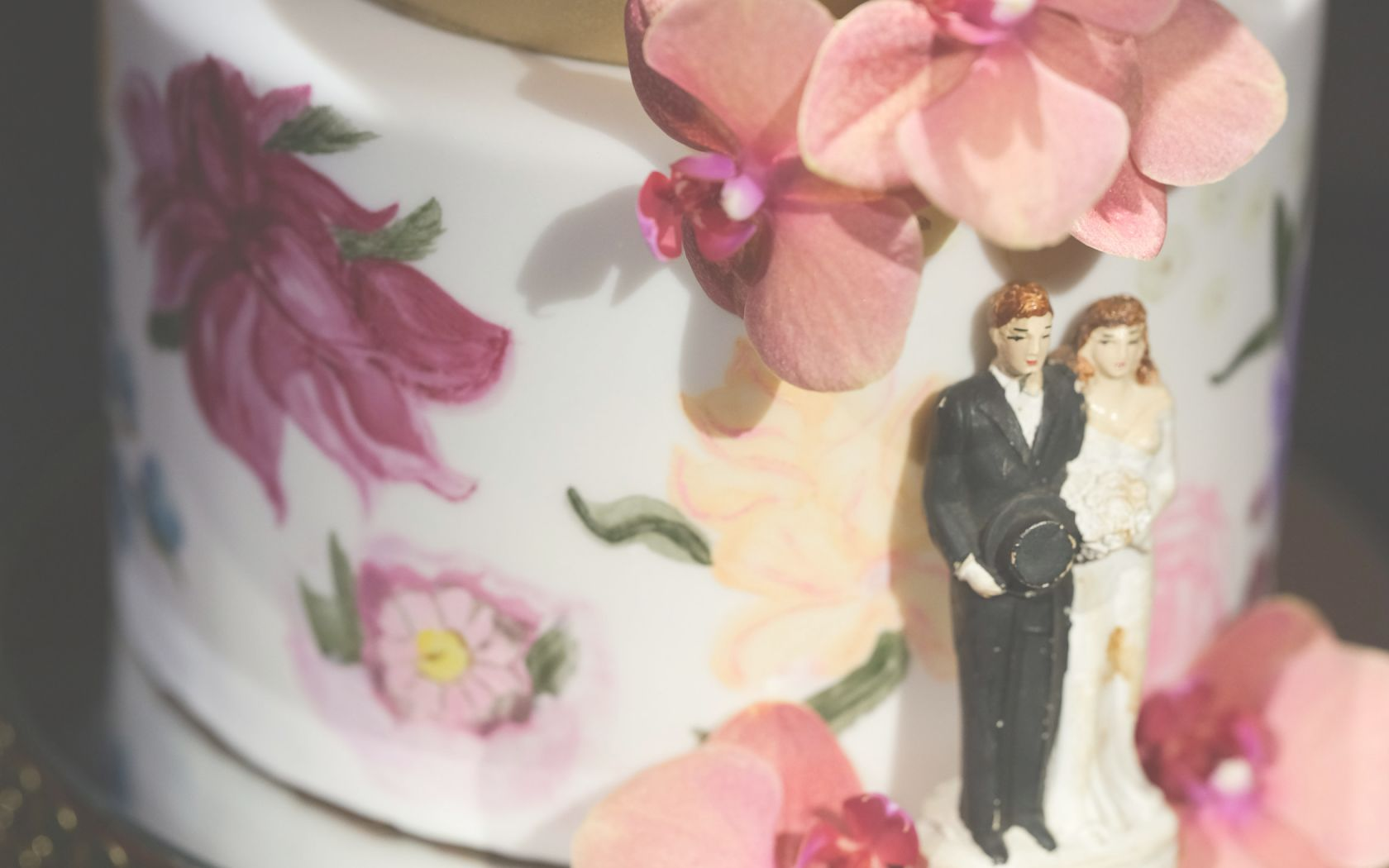 A Close Up Of A Wedding Cake